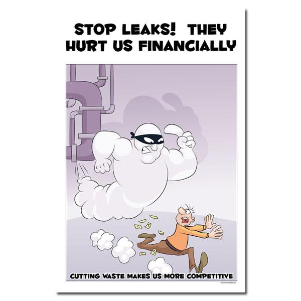 air & steam leak posters