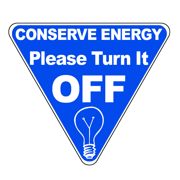 Ai Edlite102 Conserve Energy Please Turn It Off Blue