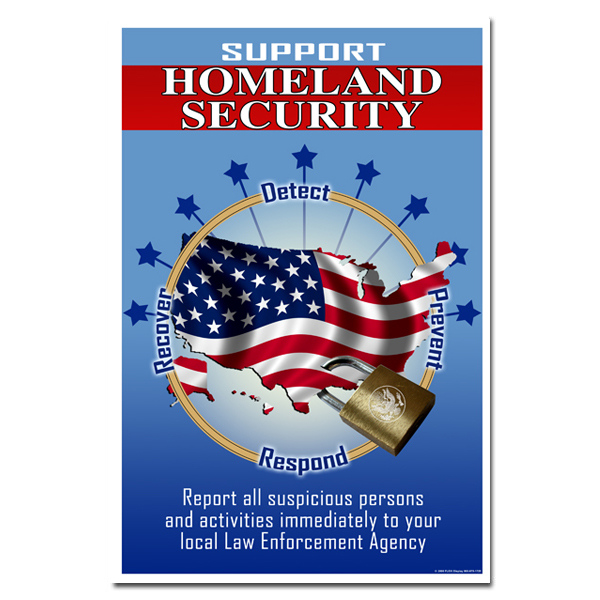 1 homeland security posters large variety stock and custom ideas