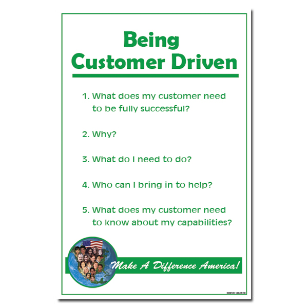 being customer driven poster