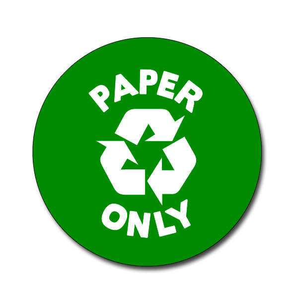Ai Rdbin036 02 1 Color Paper Only Recycling 4 Quot Vinyl