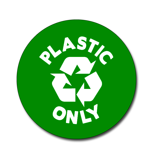 Ai Rdbin036 03 1 Color Plastic Only Recycling 4 Quot Vinyl
