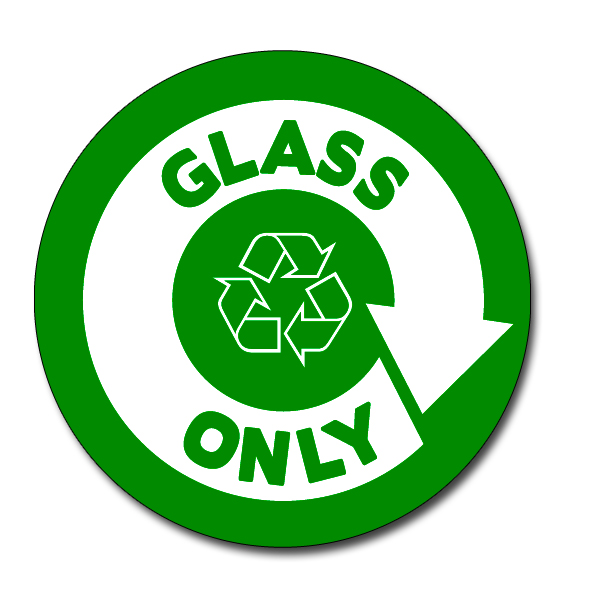 Ai Rdbin037 02 1 Color Glass Only Recycling 5 Vinyl Circle Decal