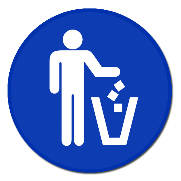 Ai Rdoth005 1 Color Pitch In Trash Recycling Decal 2