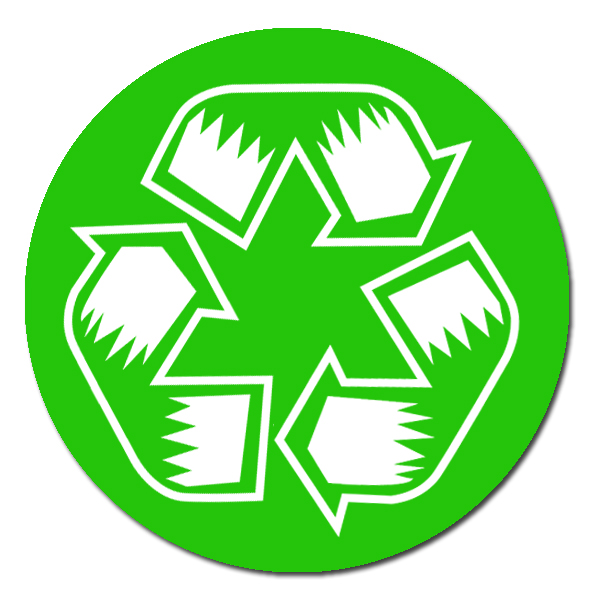 Ai Rdoth007 1 Color Recycle Symbol Recycling Decal 2 Round Green