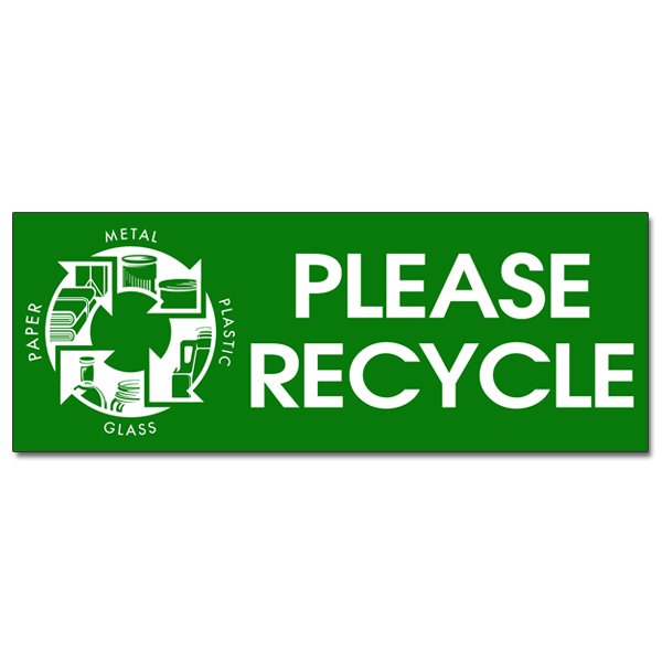 AIrdoth  Color Please Recycle Recycling Decal  X  Green - Custom vinyl stickers 1 x 2