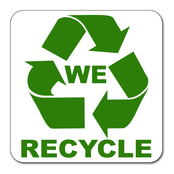 Ai Rdoth011 1 Color We Recycle Vinyl Recycling Decal 4