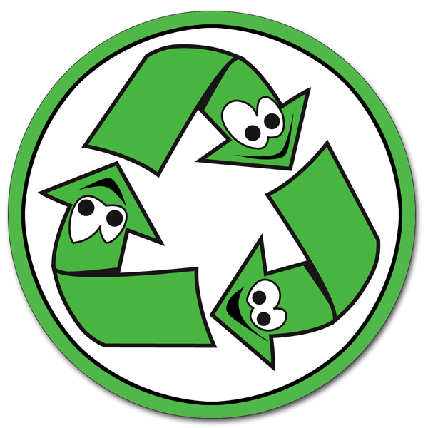 Ai Rdoth013 1 Color Smiling Recycle Symbol Vinyl Recycling Decal 2