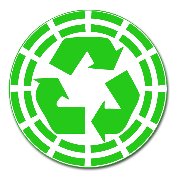 Ai Rdoth026 1 Color Recycle Symbol Grid Recycling Decal 2 Round