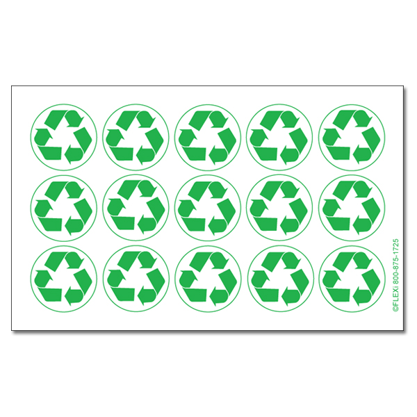 Ai Rdoth105 1 Color Recycle Symbol Green And White Recycling Decal