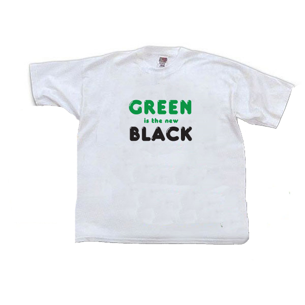 41e8b59c0 AI-rt265 - Green is the New Black T-shirt, Earth Day Incentive