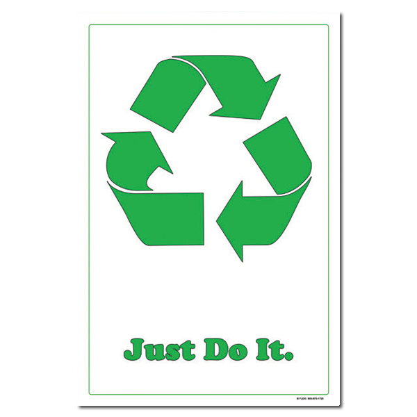 rp214 recycling poster recycling placard recycling sign recycling memo recycling post