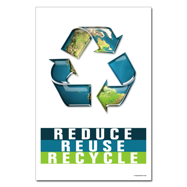 rp407 02 recycling poster recycling placard recycling sign recycling memo