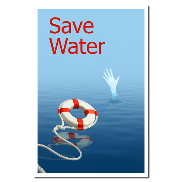 AI-wp430 - Save Water - Water Conservation Poster