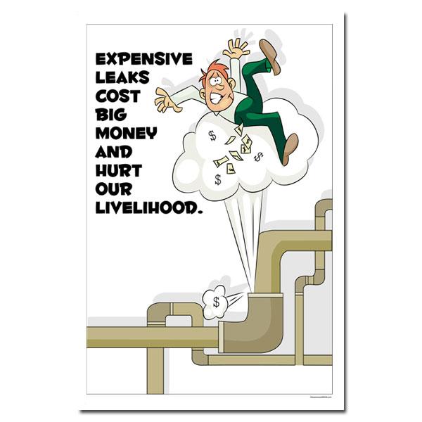 aiep454 leaks cost big money leak poster