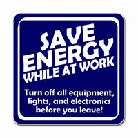 Ai Edoth098 1 Color Save Energy While At Work Turn Off