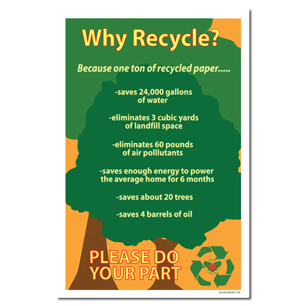 rp158 recycling poster recycling placard recycling sign recycling memo recycling post