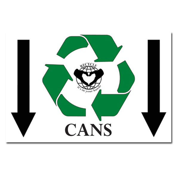 Ai Rp162 Cans Recycle Symbol With Down Arrows Recycling Poster