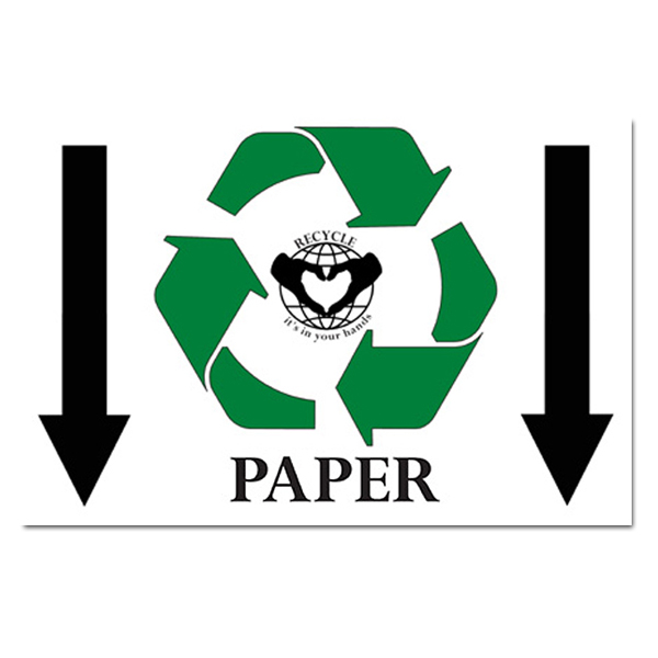 AI-rp164 - Paper Recycle Symbol With Down Arrows Recycling ...