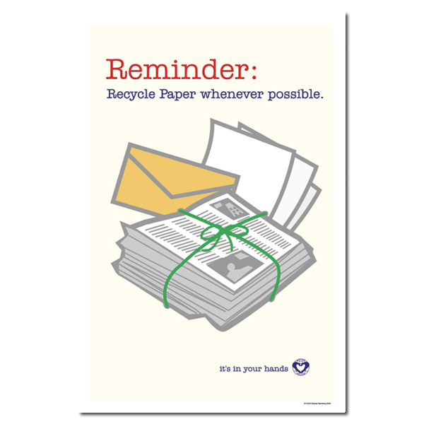 AI-rp178 - Reminder Recycle Paper whenever possible ...