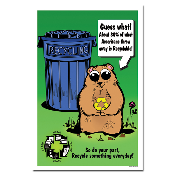 AI-rp254 - Do you part, recycle something every day Recycling Poster