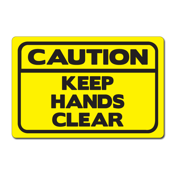 Ai Sdhand006 07 1 Color Caution Keep Hands Clear Vinyl