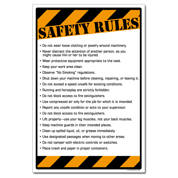 AI sp368 Safety Rules Checklist Poster