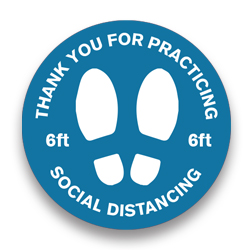 004-VPHD - Social Distancing Floor Decal
