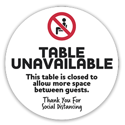 005-1-VPD - Social Distancing Table Decal