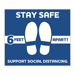 005-VPHD - Social Distancing Floor Decal