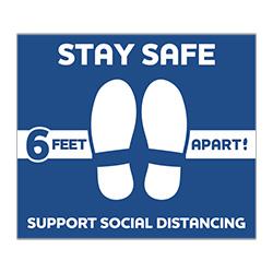 005-VPHD - Social Distancing Floor Decal