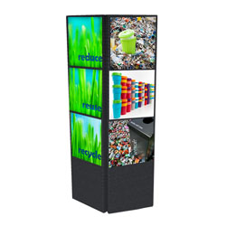 cons40 - FLEXi Modular Conservation Display, Energy Conservation Display, Tradeshows for Energy, Trade shows for conservation, recycling information display, recycling summit, energy conservation summit, energy trade show