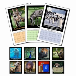 AI-AC Animal Themed 12 Month Calendar - marketing products, make your own calendar