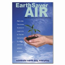 airp166 - Air Quality Poster, Clean Air Posters, Clean Air Plackards, Clean Air Signs, Air Quality Signs, Air Leak Signs, Air Leak Information, Air Quality Information