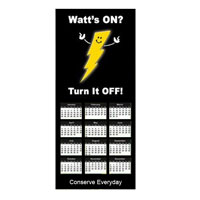 AI-ECMAG-1 - Energy Conservation Calendar Magnet