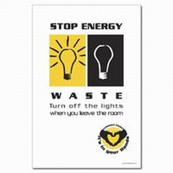 EP144 - Energy Conservation Poster, Energy Conservation Shut Off Lights PosterEnergy Conservation Plackard, Energy Conservation Sign, Save Energy Sign, Energy Waste Sign, Energy Savings Sign Energy Conservation Bulletin, Energy Conservation Posters