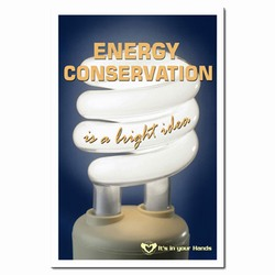 EP213 - Energy Conservation Poster, Energy Conservation Plackard, Energy Conservation Sign, Save Energy Sign, Energy Waste Sign, Energy Savings Sign Energy Conservation Bulletin, Energy Conservation Posters