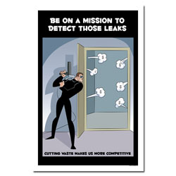 AI-EP447 - Be On a Mission to Detect Leaks - Leak Poster