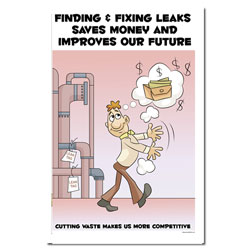 AI-EP455 - Finding &amp; Fixing Leaks Saves Money - Leak Poster