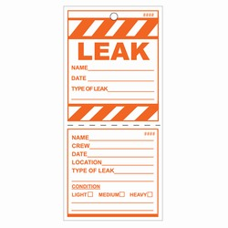 LT201 - Energy Conservation Leak Tags, Leak prevention, air leak prevention, water leak prevention, air and water waste, high pressure air savings, energy conservation for manufacturing facilities