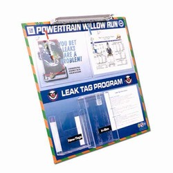 LTB102 - Energy Conservation Leak Tag Board, Leak prevention, air leak prevention, water leak prevention, air and water waste, high pressure air savings, energy conservation for manufacturing facilities
