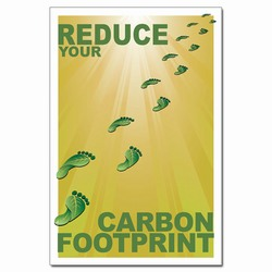 PRG001-02 - Reduce Your Carbon Footprint Poster