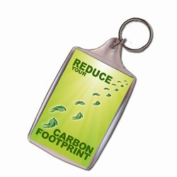 AI-PRG001-06 - Reduce Your Carbon Footprint Keychain, Recycling Incentive, Recycling Promotional Ideas, Recycling Promo Gifts, Recycling Gifts for Tradeshows, recycling ad specialties