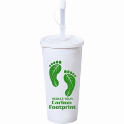 AI-PRG001-08 - Reduce Your Carbon Footprint 16oz Tumbler, Recycling Incentive, Recycling Promotional Ideas, Recycling Promo Gifts, Recycling Gifts for Tradeshows, recycling ad specialties