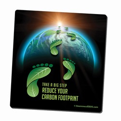 AI-PRG001-09 - Reduce Your Carbon Footprint Mousepad, Recycling Incentive, Recycling Promotional Ideas, Recycling Promo Gifts, Recycling Gifts for Tradeshows, recycling ad specialties