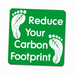 "AI-PRG001-10 - Reduce Your Carbon Footprint 2"" Decal, Recycling Incentive, Recycling Promotional Ideas, Recycling Promo Gifts, Recycling Gifts for Tradeshows, recycling ad specialties"
