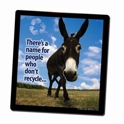AI-PRG0011-DR4 - Donkey Recycling Mousepad, Recycling Incentive, Recycling Promotional Ideas, Recycling Promo Gifts, Recycling Gifts for Tradeshows, recycling ad specialties