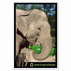 AI-PRG0011-ER1  Elephant Recycling Poster