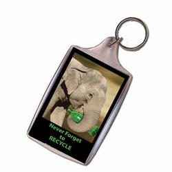 AI-PRG0011-ER2 Elephant Recycling Keychain