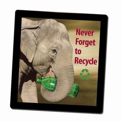 AI-PRG0011-ER4 - Elephant Recycling Mousepad, Recycling Incentive, Recycling Promotional Ideas, Recycling Promo Gifts, Recycling Gifts for Tradeshows, recycling ad specialties
